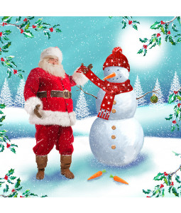 Santa's Friend - Large Christmas Card Pack