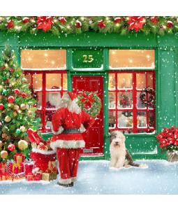 Santa's Shopping - Small Christmas Card Pack