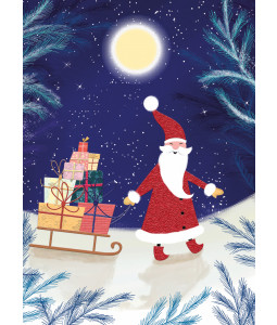 Christmas Eve Santa - Christmas Card Pack