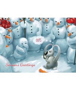 Angry Snowmen - Christmas Card Pack