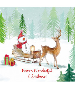 Snowman's Trip - Large Christmas Card Pack