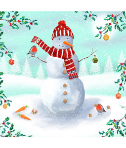 Decorating the Snowman - Small Christmas Card Pack