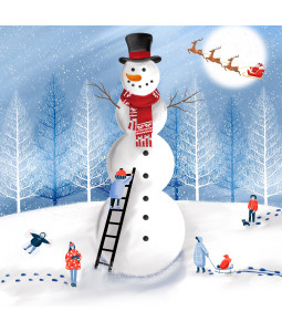Giant Snowman - Large Christmas Card Pack