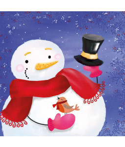 Snowman's Greetings - Small Christmas Card Pack