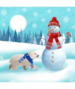 Polar Bear and Snowman - Large Christmas Card Pack