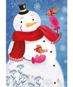 Jubilant Snowman - Christmas Card Pack