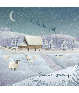 Countryside Sheep - Large Christmas Card Pack