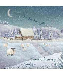 Countryside Sheep - Small Christmas Card Pack