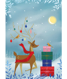 Deer and Presents- Christmas Card Pack