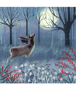 Stag in Woods - Small Christmas Card Pack