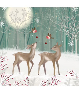 Wintertime Deer - Small Christmas Card Pack