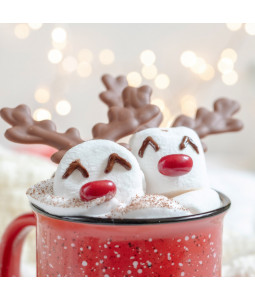 Reindeer Hot Chocolate - Small Christmas Card Pack