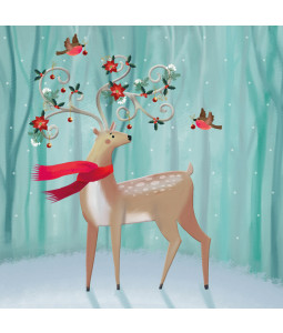 Decorated Reindeer - Small Christmas Card Pack