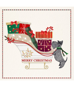 Scottie and Sleigh - Small Christmas Card Pack