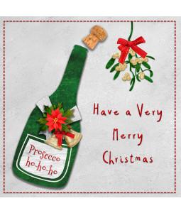 Prosecco Ho Ho Ho - Small Christmas Card Pack