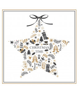 Christmas Time Star - Large Christmas Card Pack