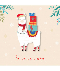 Fa La La Llama - Large Christmas Card Pack