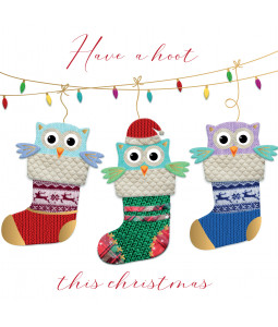 Have a Hoot - Small Christmas Card Pack