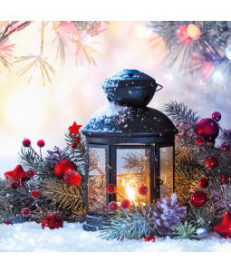 Christmas Lantern - Small Christmas Card Pack