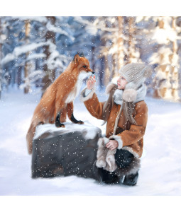 Wintertime Fox - Large Christmas Card Pack