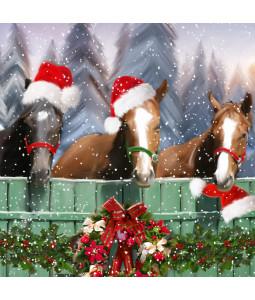 Festive Horses - Small Christmas Card Pack