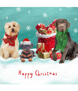 Festive Dogs - Small Christmas Card Pack