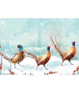 Three Pheasants - Christmas Card Pack