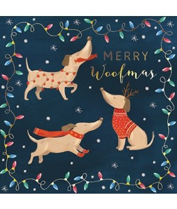 Merry Woofmas with Gold Foil - Small Christmas Card Pack