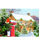 The Robin and Cottage - Christmas Card Pack