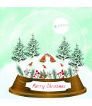 Snow Globe Fox - Small Christmas Card Pack