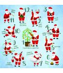 Santa's 12 Days - Small Christmas Card Pack