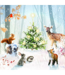 Woodland Gathering - Small Christmas Card Pack