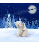 A Christmas card pack with a Polar Bear waving
