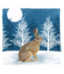 Christmas Hare - Small Christmas Card Pack