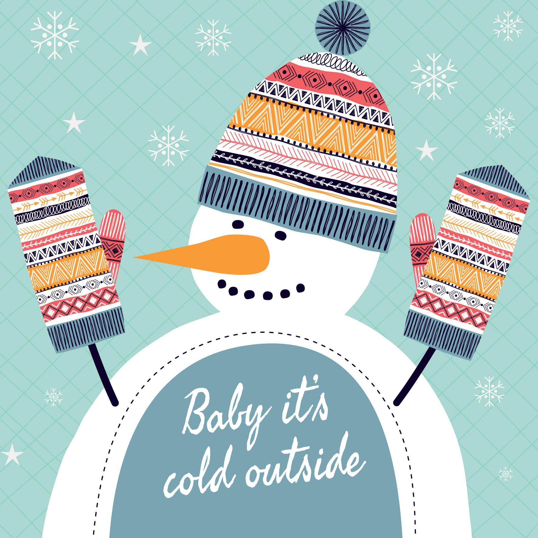 Baby It's Cold Outside - Christmas Card Packs - Christmas Joy